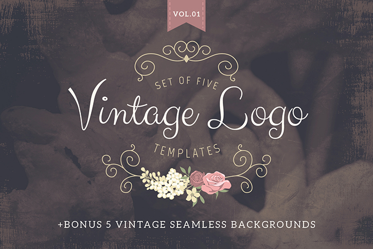 vintage logo templates volume 1 lisa glanz