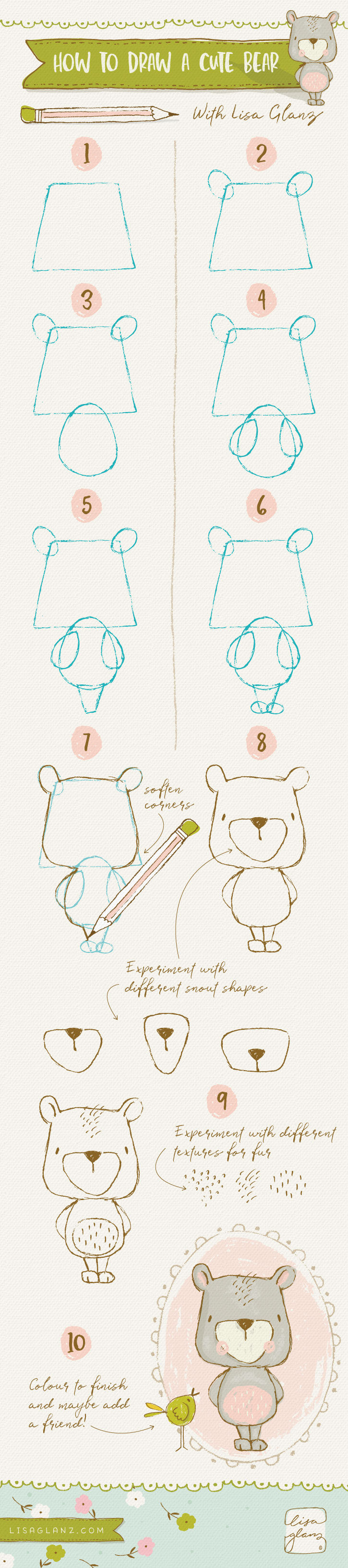 how to draw a sea bear