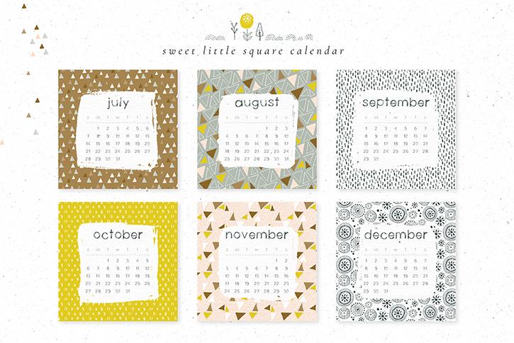 square calendar templates