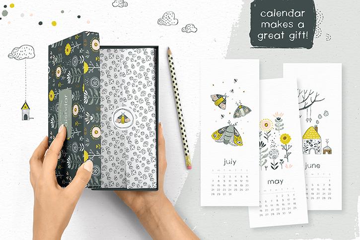 Lovely calendar gift plus a free font